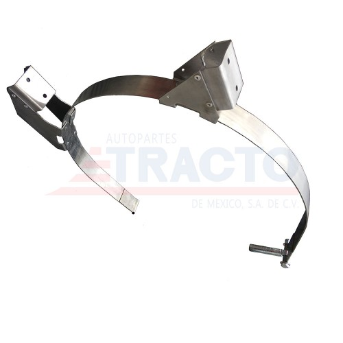 "Stainless steel, Internationtal, fuel tank strap for 26"", tanks with step bracket"