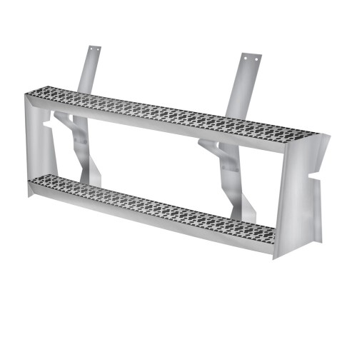 "Aluminum Fuel Tank Step Set With Brackets, 48"" Long, Freightliner Application"