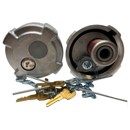"""Fuel Cap 3 1/2"""" With 8 Threads Per Inch Non Vented (Pressure Relief) Locking, Volvo, Mack, International Application"""