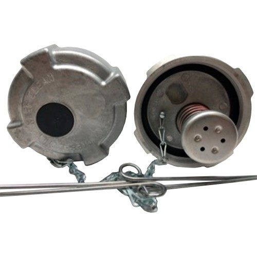 """Fuel Cap 3 1/2"""" With 8 Threads Per Inch Full Vented Non Locking, Volvo, Mack, International Application"""